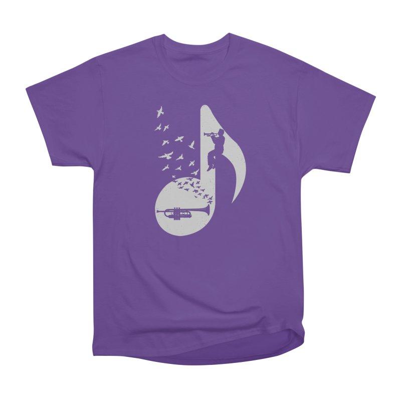 Musical note - Trumpet Men's Heavyweight T-Shirt by barmalisiRTB