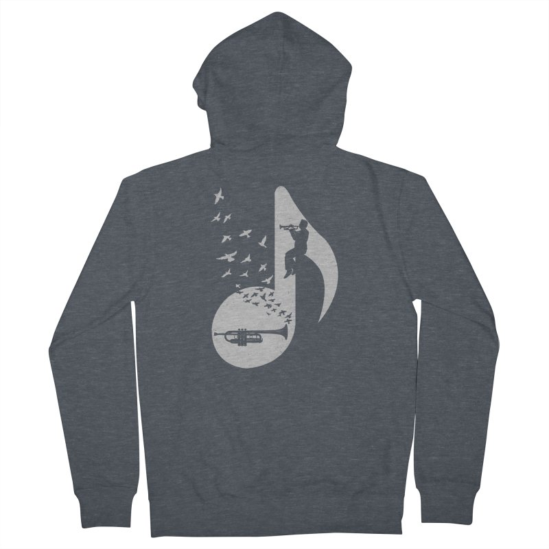 Musical note - Trumpet Women's French Terry Zip-Up Hoody by barmalisiRTB