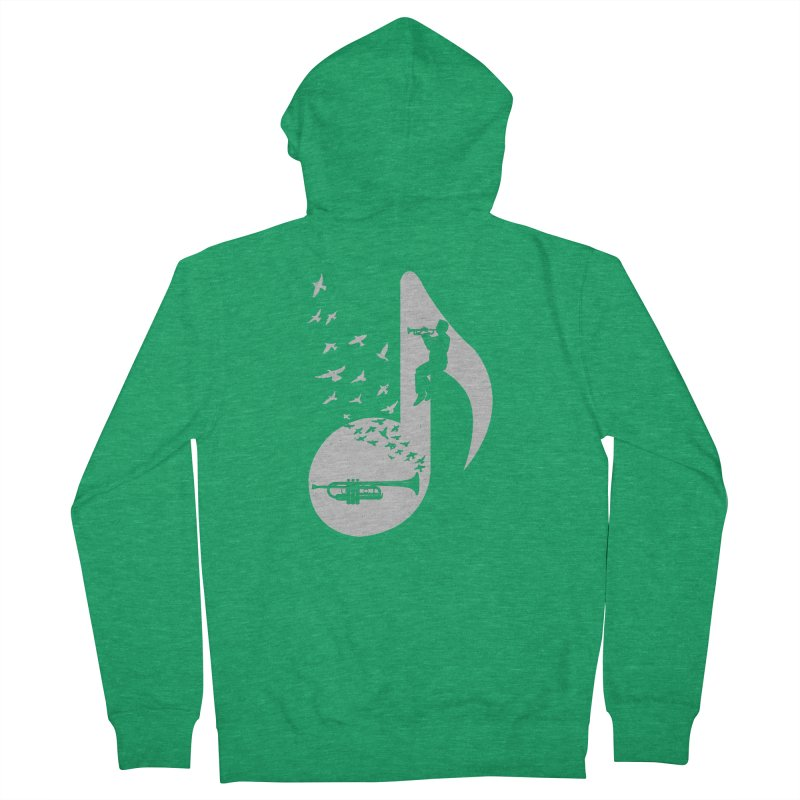 Musical note - Trumpet Men's French Terry Zip-Up Hoody by barmalisiRTB