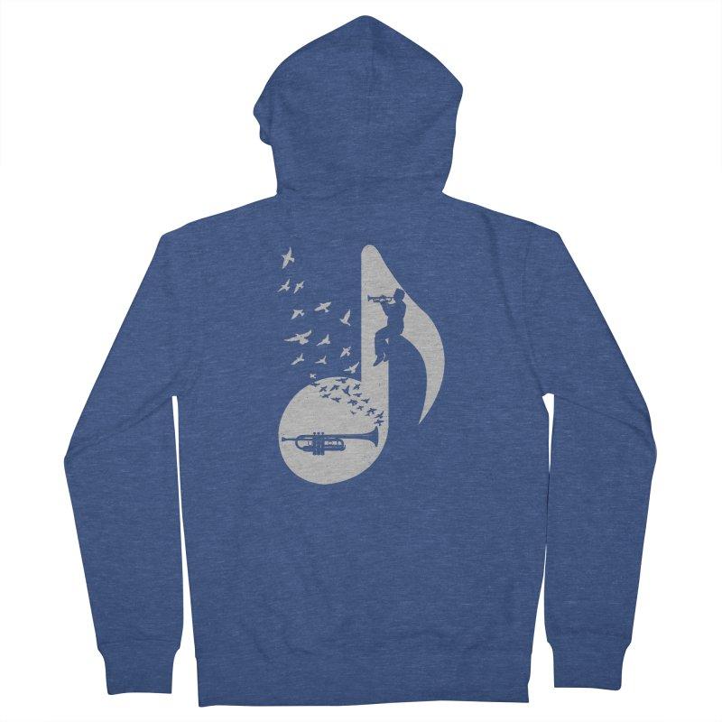 Musical note - Trumpet Men's Zip-Up Hoody by barmalisiRTB