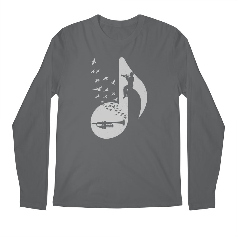 Musical note - Trumpet Men's Longsleeve T-Shirt by barmalisiRTB