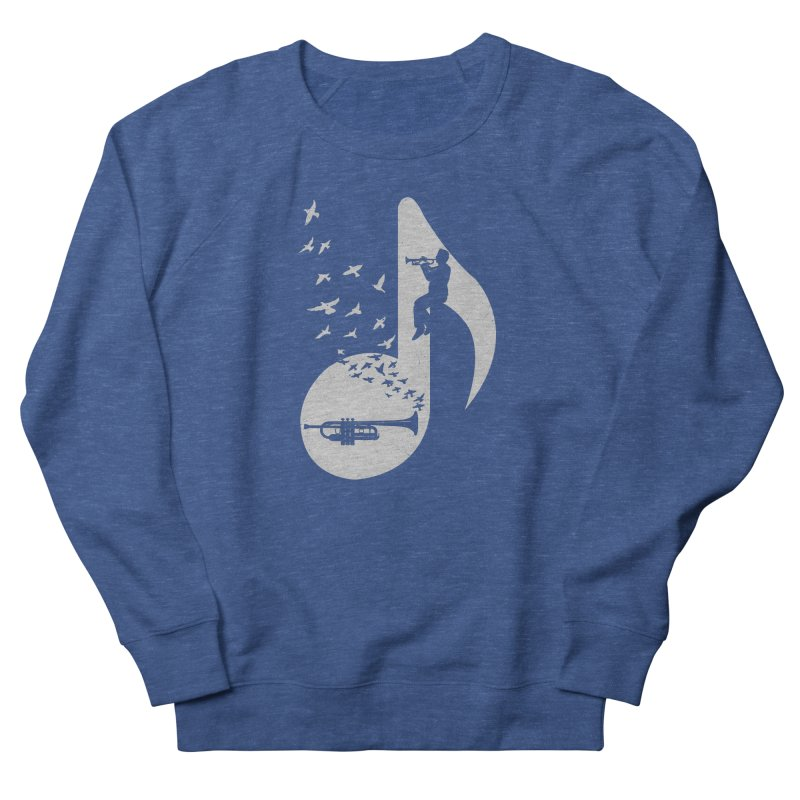 Musical note - Trumpet Men's French Terry Sweatshirt by barmalisiRTB