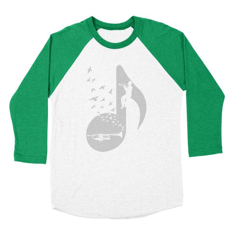 Musical note - Trumpet Women's Baseball Triblend T-Shirt by barmalisiRTB