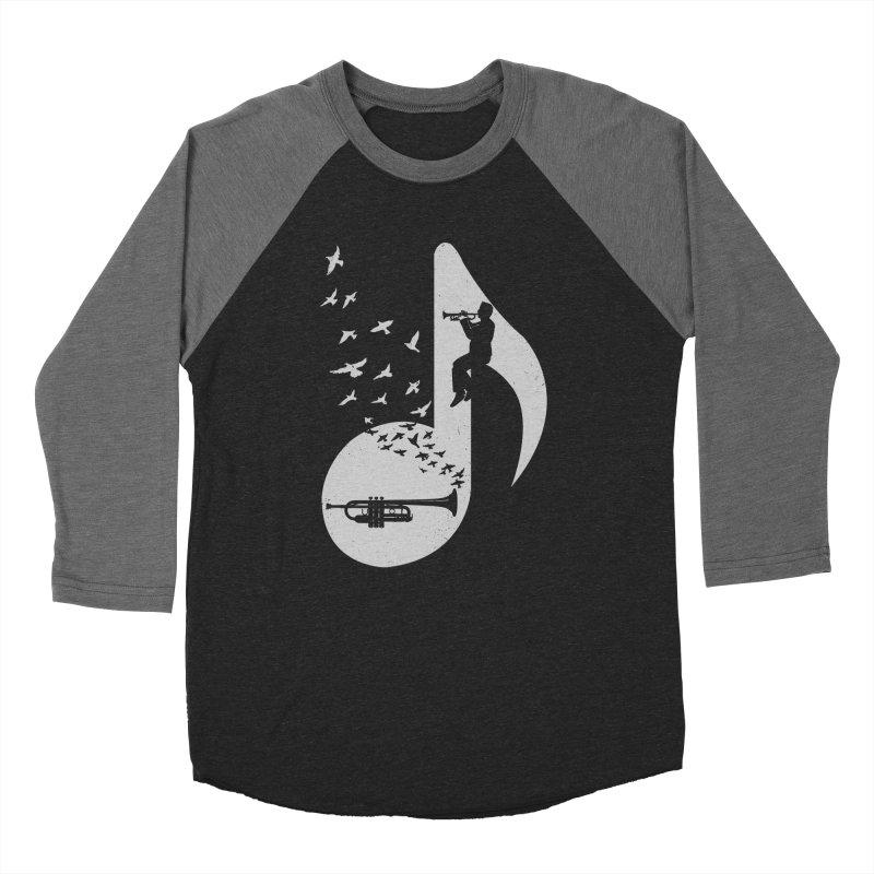 Musical note - Trumpet Men's Baseball Triblend T-Shirt by barmalisiRTB