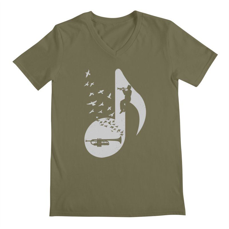 Musical note - Trumpet Men's V-Neck by barmalisiRTB