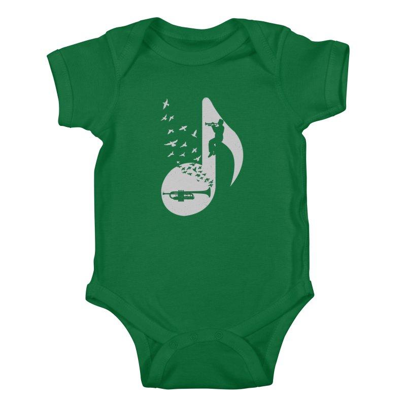 Musical note - Trumpet Kids Baby Bodysuit by barmalisiRTB