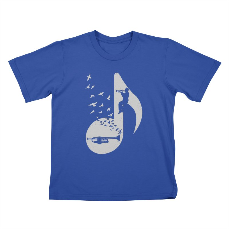 Musical note - Trumpet Kids T-Shirt by barmalisiRTB