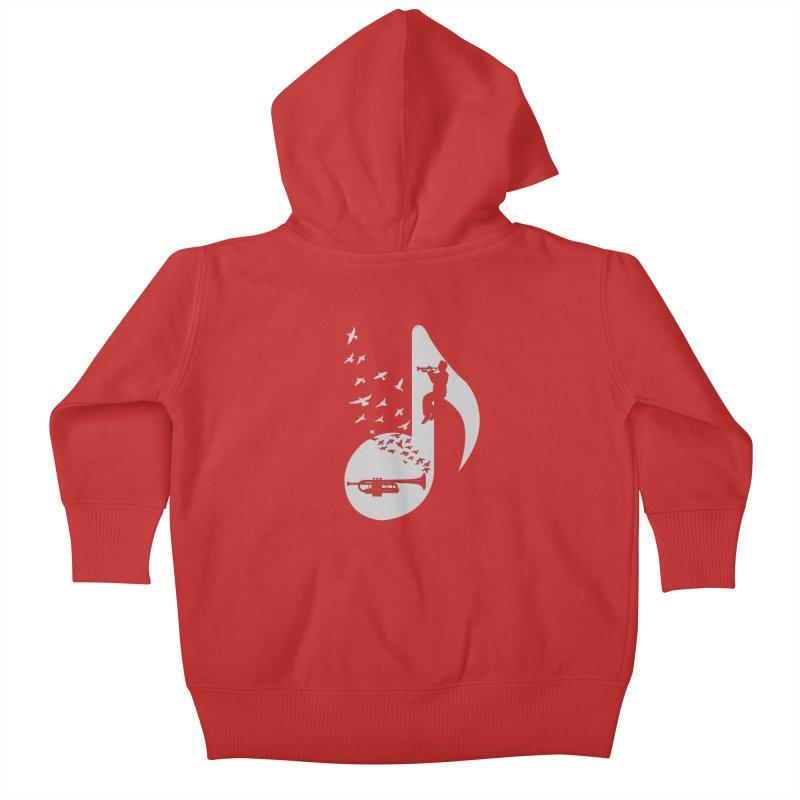 Musical note - Trumpet Kids Baby Zip-Up Hoody by barmalisiRTB