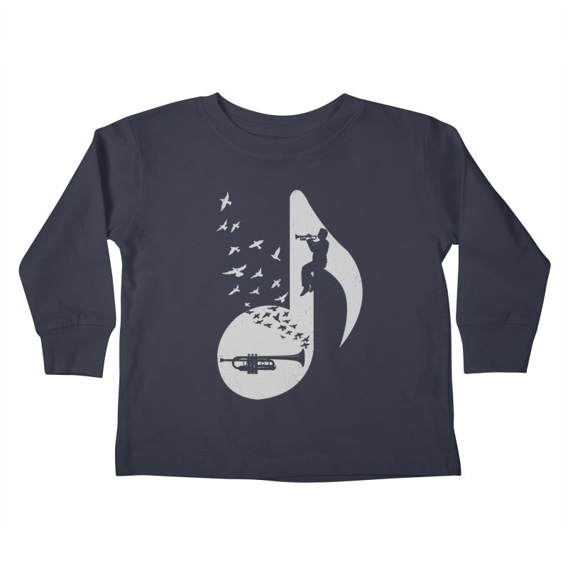 Musical note - Trumpet Kids Toddler Longsleeve T-Shirt by barmalisiRTB
