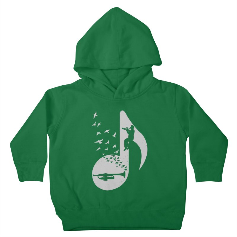 Musical note - Trumpet Kids Toddler Pullover Hoody by barmalisiRTB