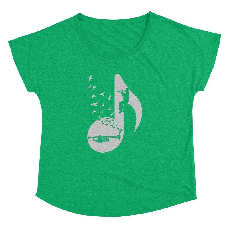 Musical note - Trumpet Women's Dolman Scoop Neck by barmalisiRTB