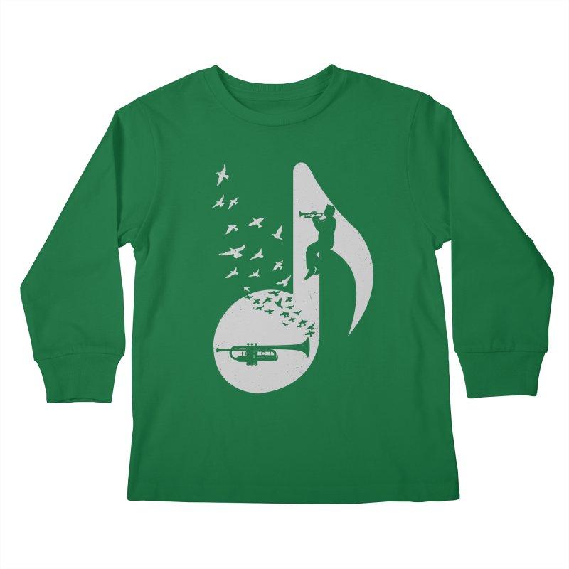 Musical note - Trumpet Kids Longsleeve T-Shirt by barmalisiRTB