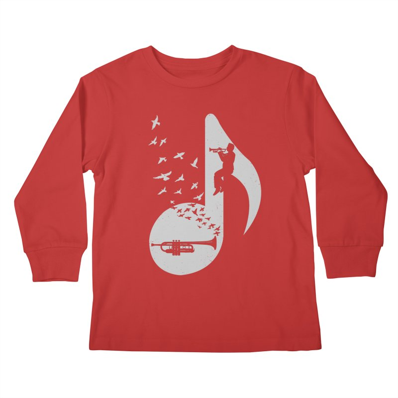 Musical note - Trumpet Kids Longsleeve T-Shirt by barmalisiRTB