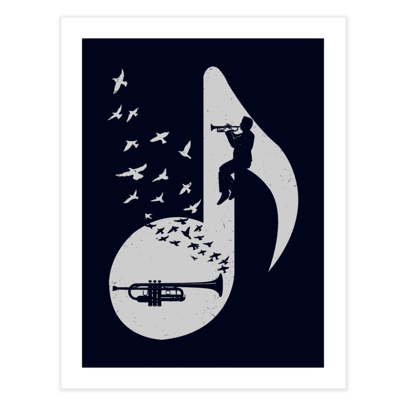 Musical note - Trumpet Home Fine Art Print by barmalisiRTB