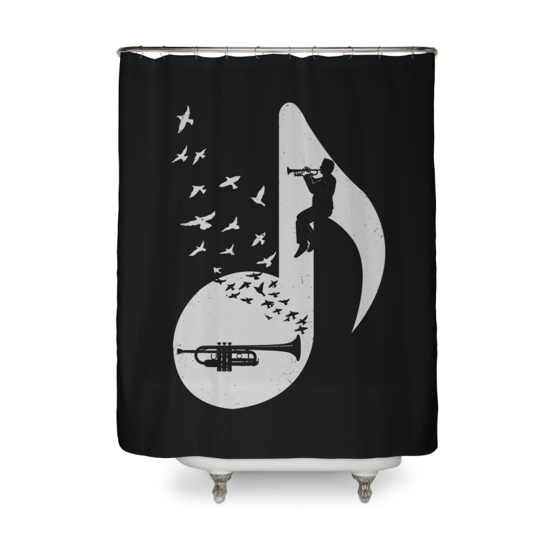 Musical note - Trumpet Home Shower Curtain by barmalisiRTB
