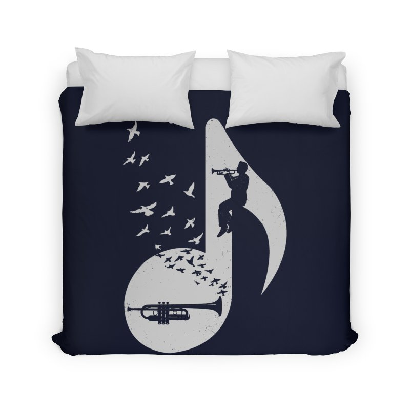 Musical note - Trumpet Home Duvet by barmalisiRTB