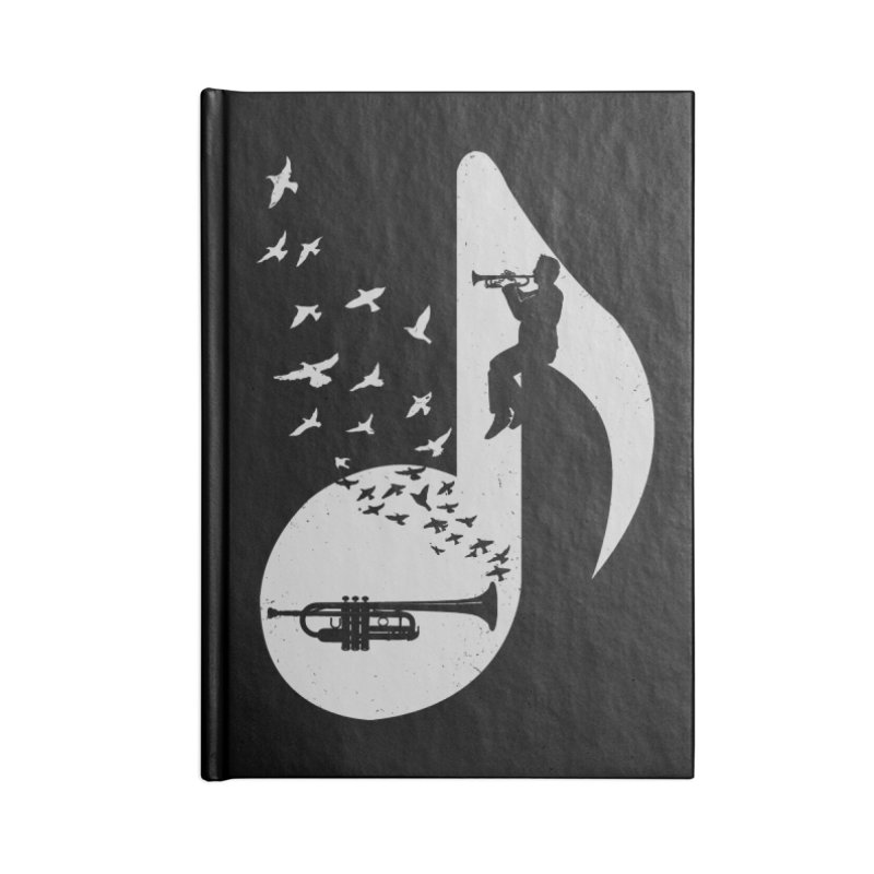 Musical note - Trumpet Accessories Notebook by barmalisiRTB