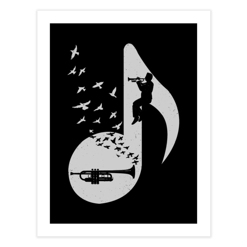 Musical note - Trumpet Home Fine Art Print by barmalisiRTB