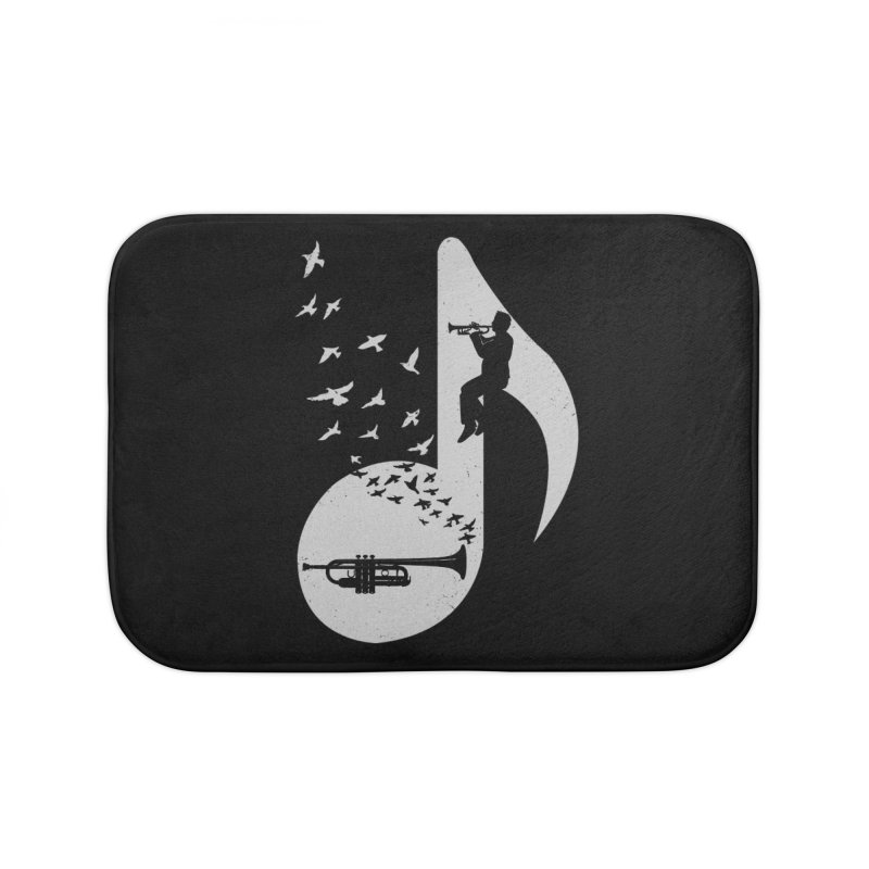 Musical note - Trumpet Home Bath Mat by barmalisiRTB