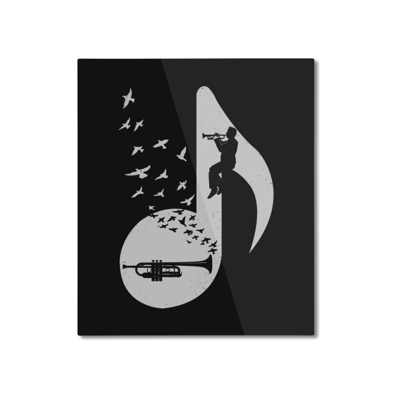Musical note - Trumpet Home Mounted Aluminum Print by barmalisiRTB