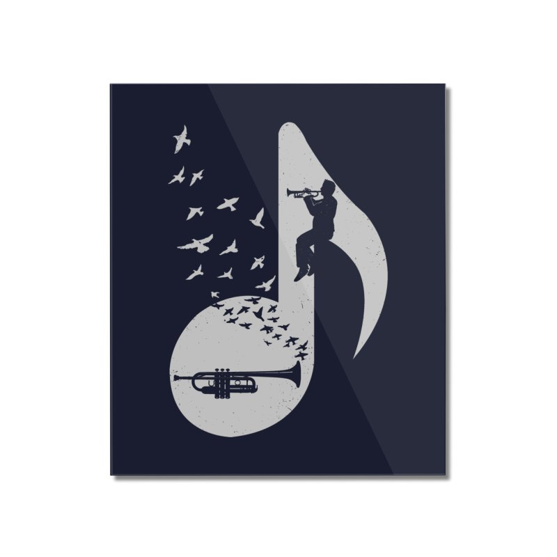 Musical note - Trumpet Home Mounted Acrylic Print by barmalisiRTB