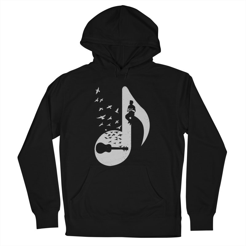 Musical note - Ukulele Men's French Terry Pullover Hoody by barmalisiRTB