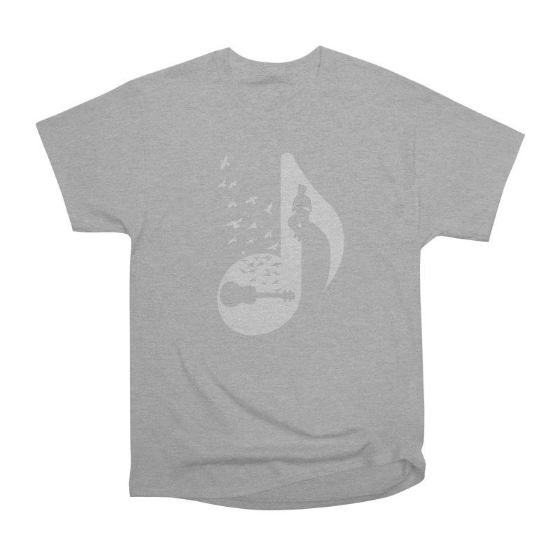 Musical note - Ukulele Women's Heavyweight Unisex T-Shirt by barmalisiRTB
