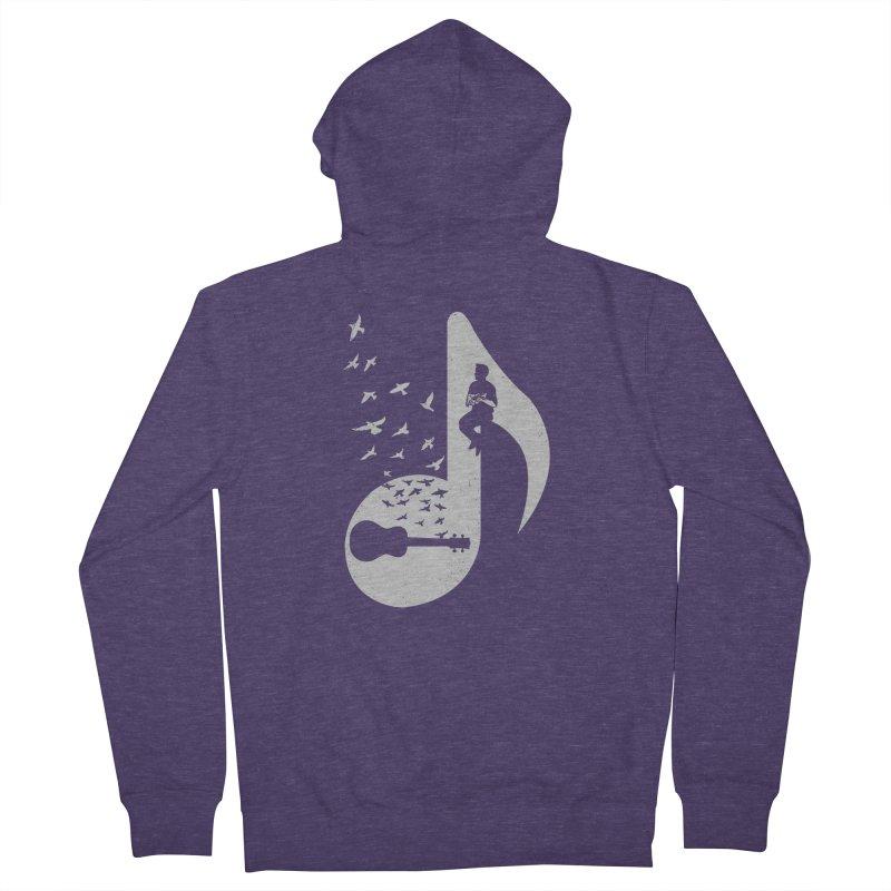 Musical note - Ukulele Men's Zip-Up Hoody by barmalisiRTB