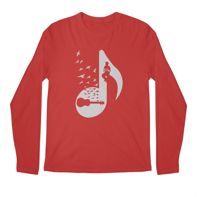 Musical note - Ukulele Men's Longsleeve T-Shirt by barmalisiRTB