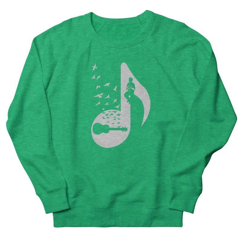 Musical note - Ukulele Men's French Terry Sweatshirt by barmalisiRTB