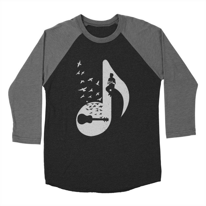 Musical note - Ukulele Women's Baseball Triblend T-Shirt by barmalisiRTB