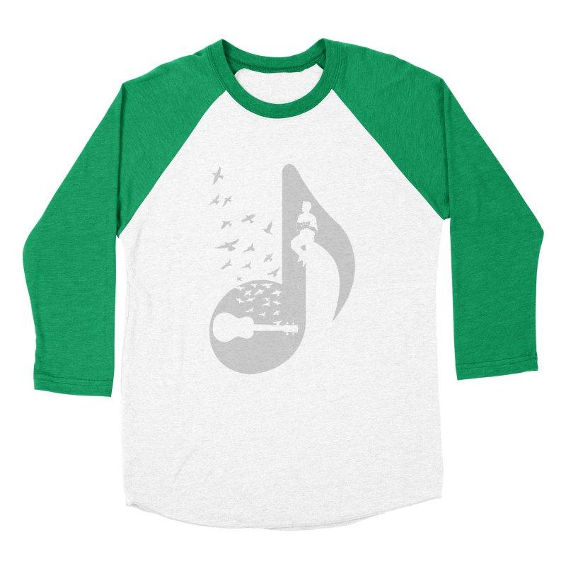 Musical note - Ukulele Men's Baseball Triblend Longsleeve T-Shirt by barmalisiRTB