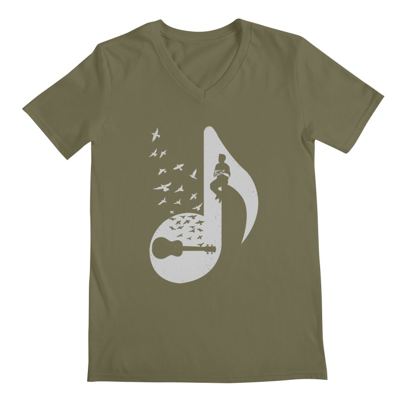 Musical note - Ukulele Men's Regular V-Neck by barmalisiRTB