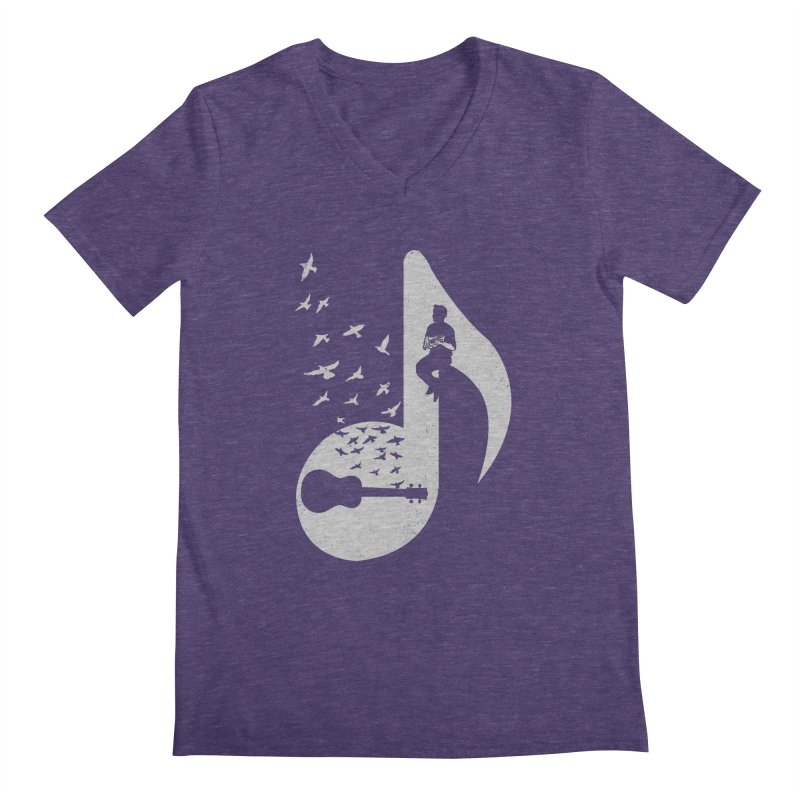 Musical note - Ukulele Men's V-Neck by barmalisiRTB