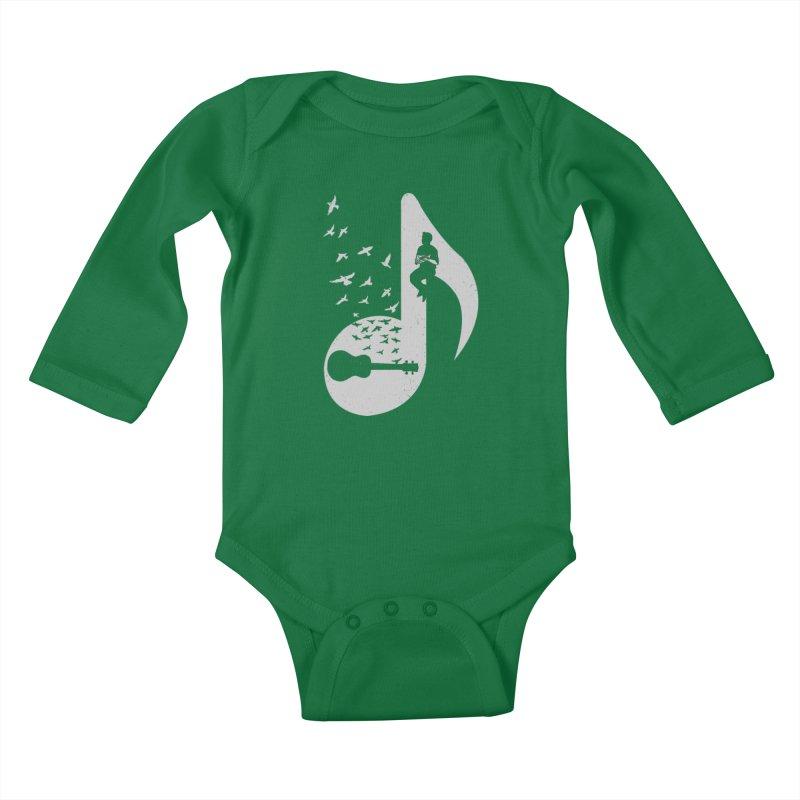 Musical note - Ukulele Kids Baby Longsleeve Bodysuit by barmalisiRTB