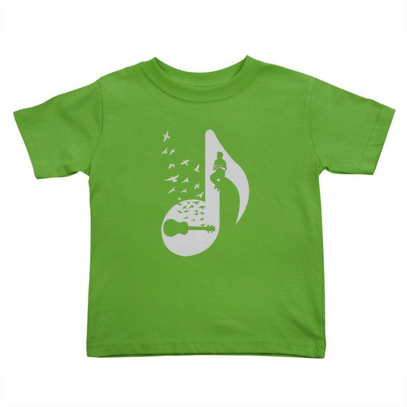 Musical note - Ukulele Kids Toddler T-Shirt by barmalisiRTB