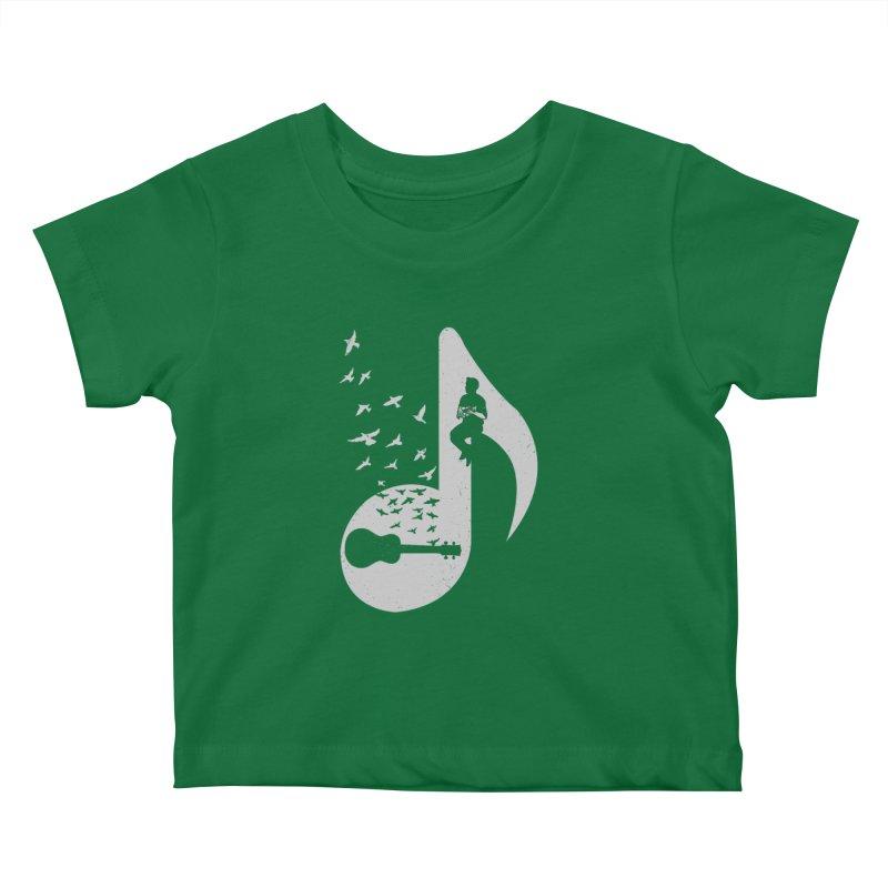 Musical note - Ukulele Kids Baby T-Shirt by barmalisiRTB