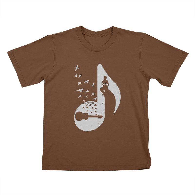 Musical note - Ukulele Kids T-Shirt by barmalisiRTB