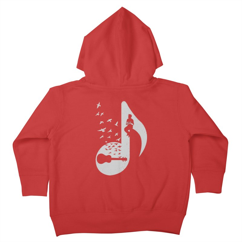 Musical note - Ukulele Kids Toddler Zip-Up Hoody by barmalisiRTB