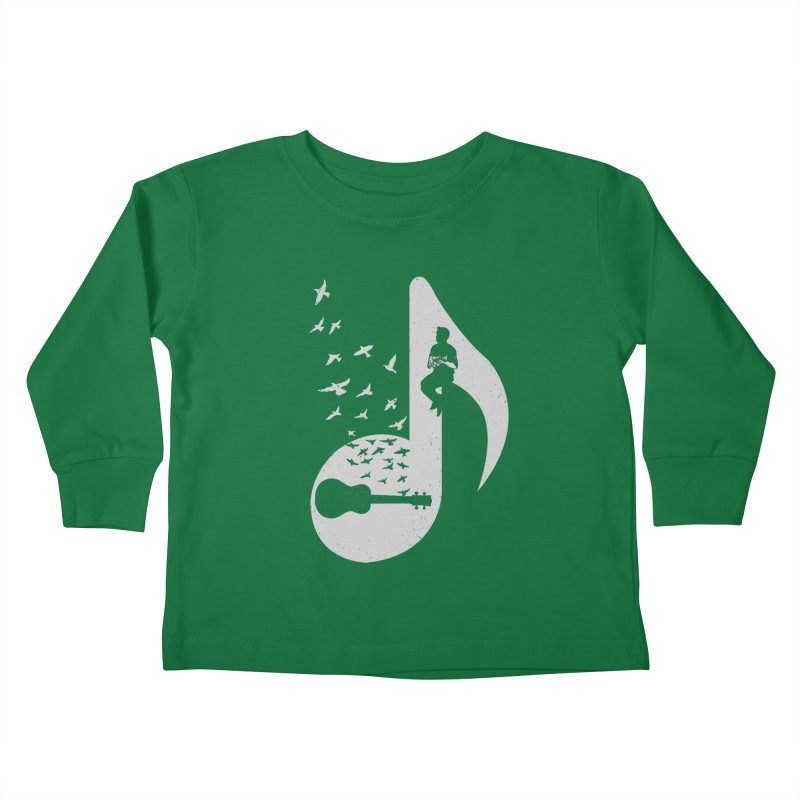 Musical note - Ukulele Kids Toddler Longsleeve T-Shirt by barmalisiRTB