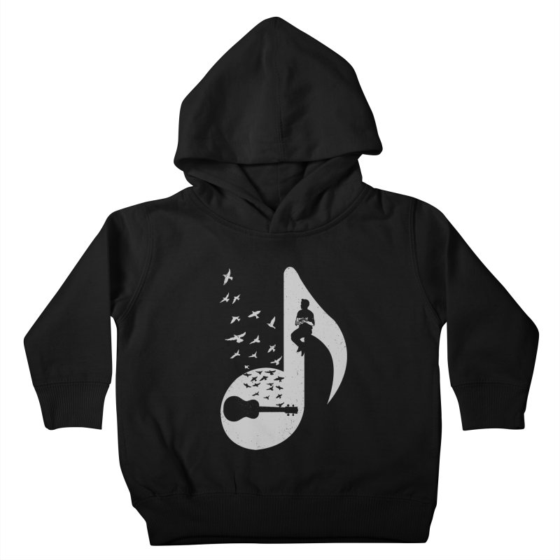 Musical note - Ukulele Kids Toddler Pullover Hoody by barmalisiRTB