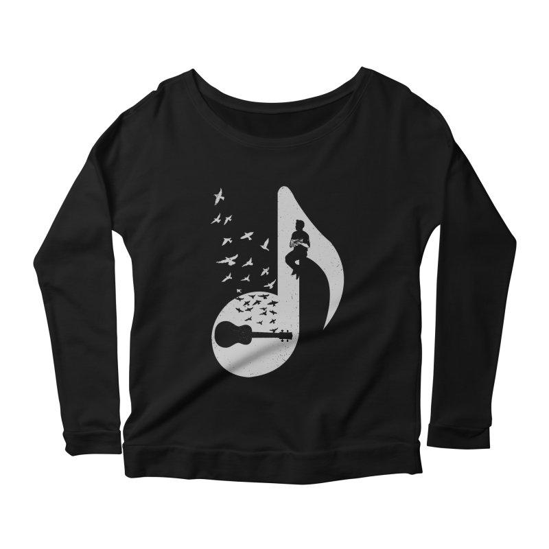 Musical note - Ukulele Women's Longsleeve Scoopneck  by barmalisiRTB