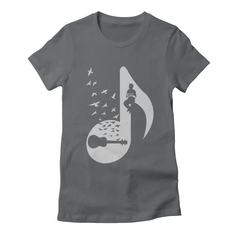Musical note - Ukulele Women's Fitted T-Shirt by barmalisiRTB