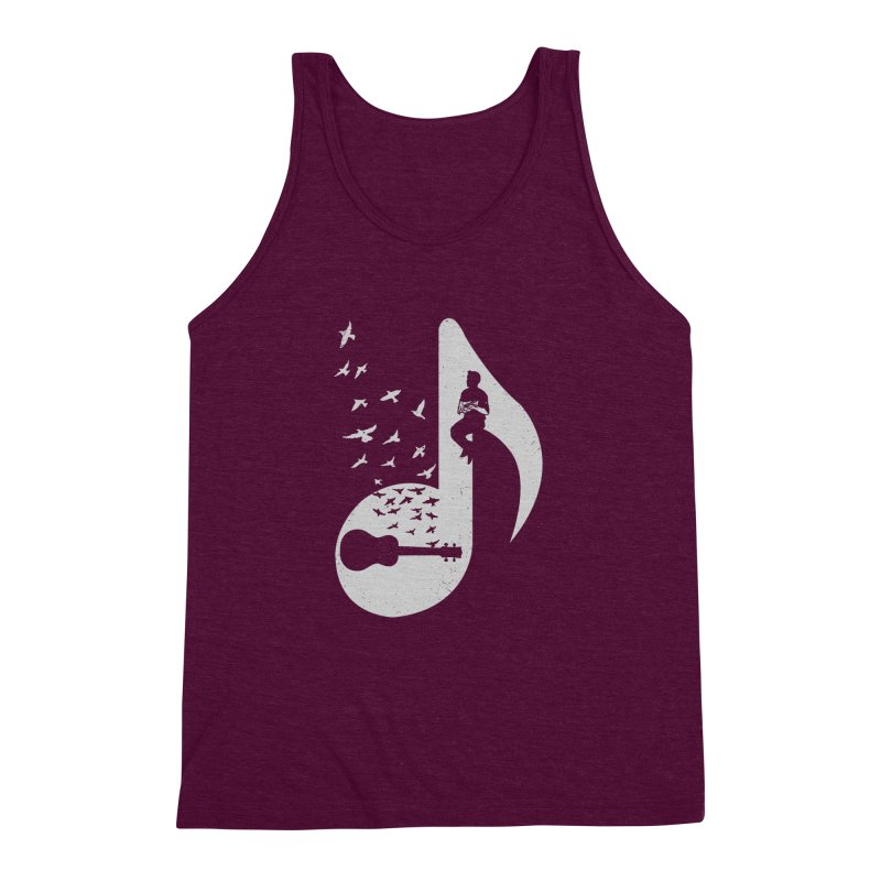 Musical note - Ukulele Men's Triblend Tank by barmalisiRTB