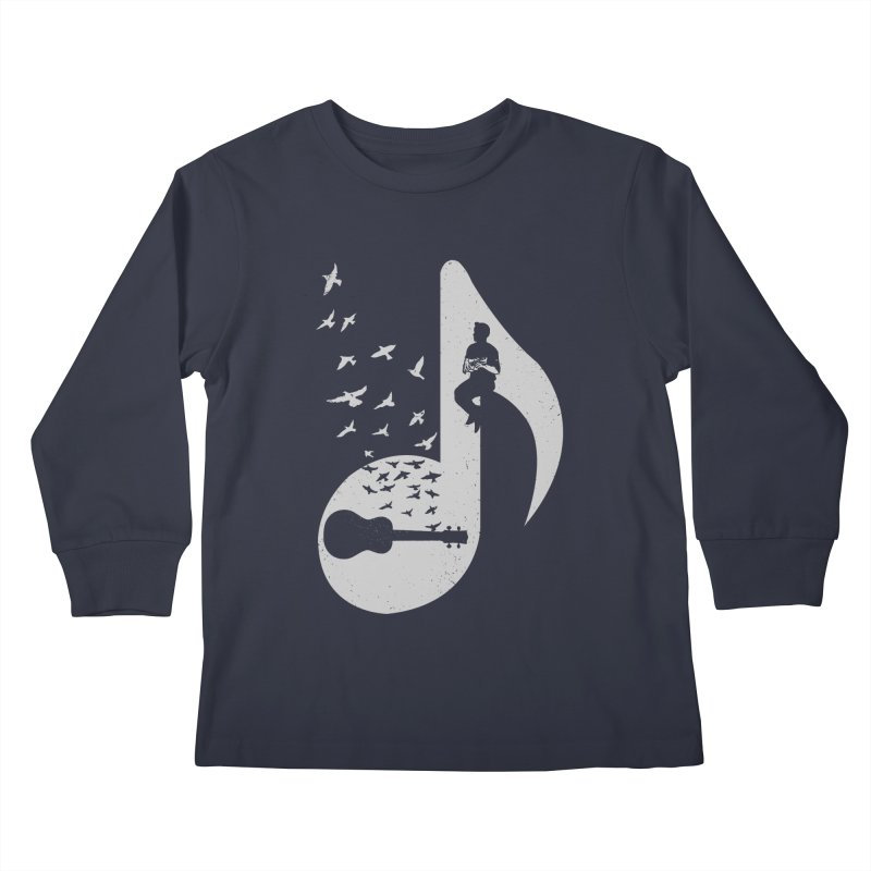 Musical note - Ukulele Kids Longsleeve T-Shirt by barmalisiRTB