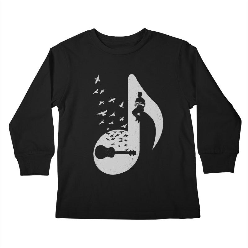 Musical note - Ukulele Kids Longsleeve T-Shirt by barmalisiRTB