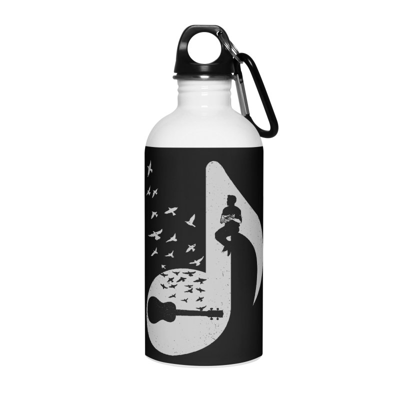 Musical note - Ukulele Accessories Water Bottle by barmalisiRTB