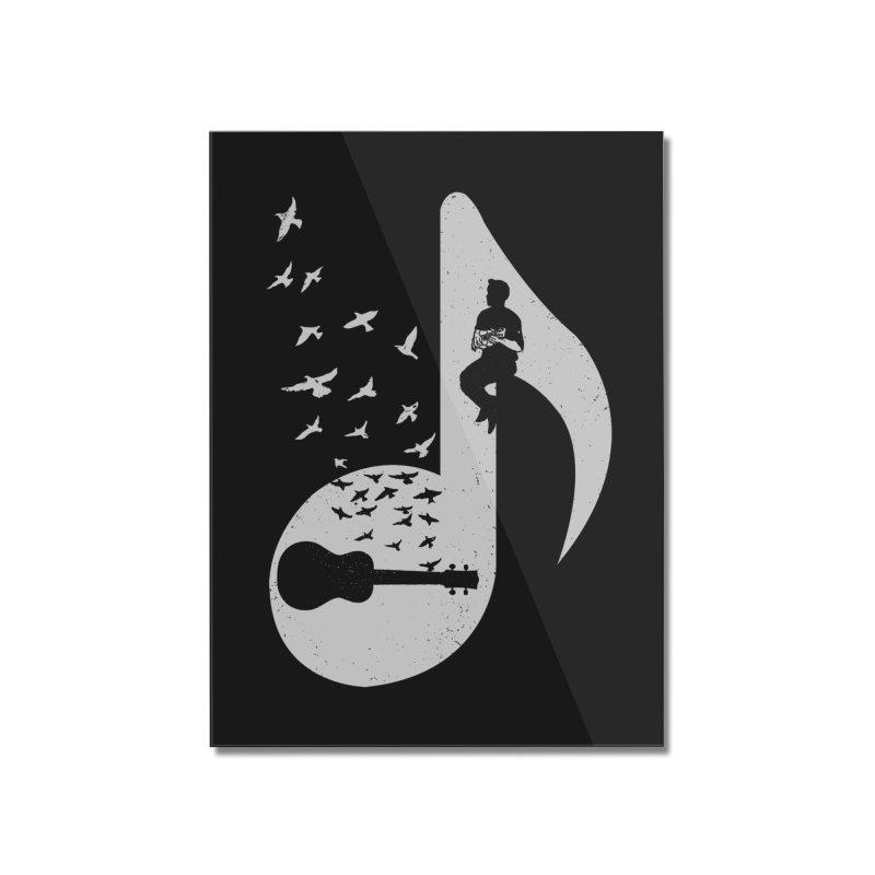 Musical note - Ukulele Home Mounted Acrylic Print by barmalisiRTB