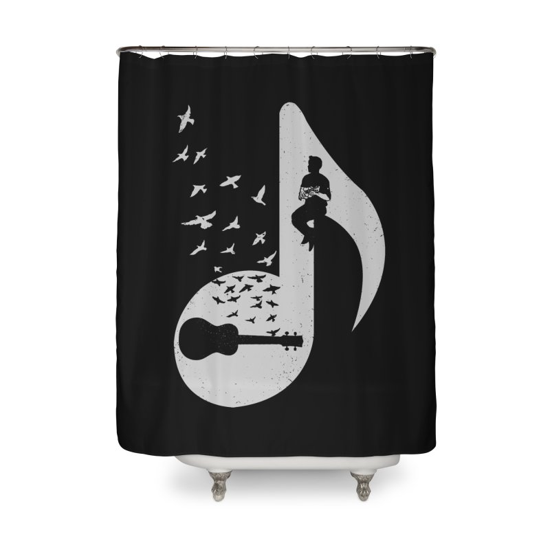 Musical note - Ukulele Home Shower Curtain by barmalisiRTB