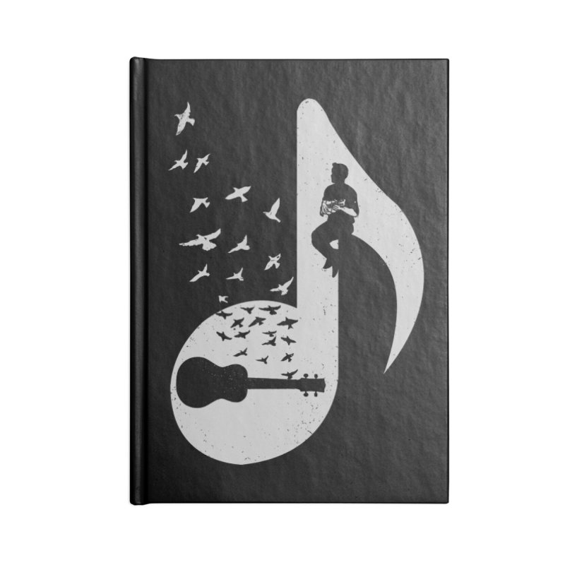 Musical note - Ukulele Accessories Notebook by barmalisiRTB